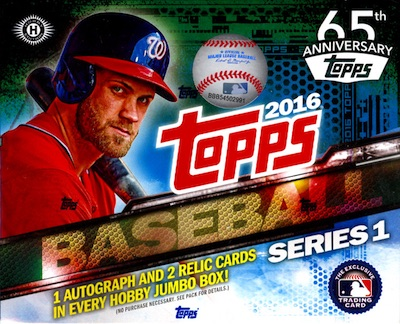 2016 Topps Series 1 Baseball Jumbo Box