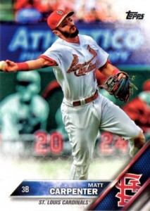 2016 Topps Series 1 Baseball Variations Camo Carpenter