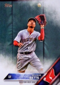 2016 Topps Series 1 Baseball Variations Camo Mookie Betts