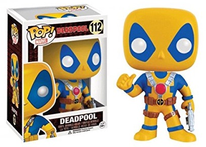 Funko Pop Deadpool 112 Yellow Blue Amazon