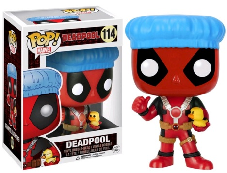Funko Pop Deadpool 114 Bath w: shower cap