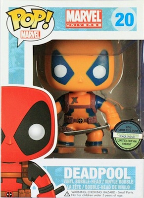 Funko Pop Deadpool 20 Yellow Convention Exclusive