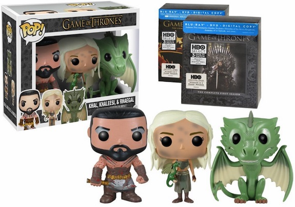 Funko Pop Game of Thrones Khal, Khaleesi, Rhaegal 3-Pack