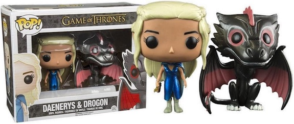 Funko Pop Game of Thrones Metallic Daenerys and Drogon 2-Pack