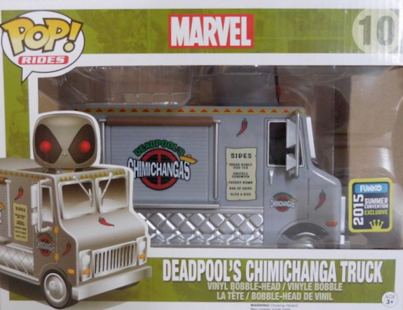 Funko Pop Rides Deadpool Chimichanga Truck Silver Summer Convention