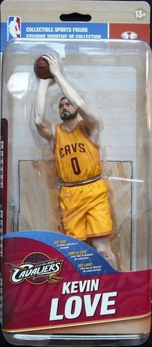 McFarlane NBA 28 Kevin Love Gold Uniform Variant Silver