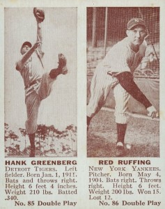 1941 Double Play Hank Greenberg, Red Ruffing #85-86