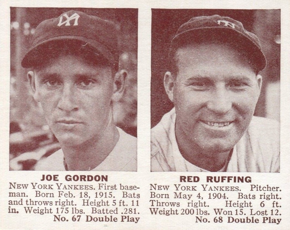 1941 Double Play Joe Gordon, Red Ruffing #67-#68