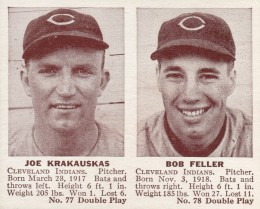 1941 Double Play Joe krakauskas, Bob Feller #77-78