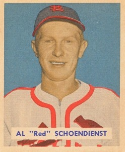 Top 10 Red Schoendienst Baseball Cards 9