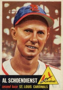 Top 10 Red Schoendienst Baseball Cards 6