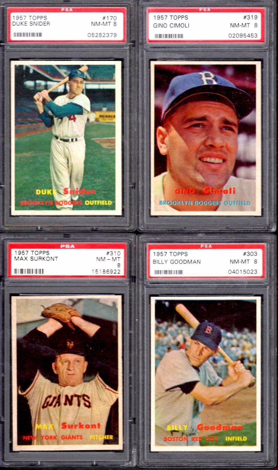Rare Nm Mt Graded 1957 Topps Baseball Card Set Hits Ebay