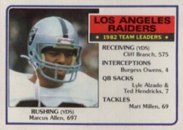 Top 10 Marcus Allen Football Cards 5