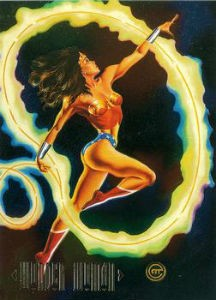 1994 Skybox DC Master Series F1 Wonder Woman Foil
