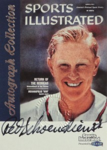 1999 Fleer Sports Illustrated Greats of the Game Red Schoendienst Autograph