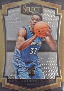 2015-16 Panini Select Basketball Base Premier Towns 136