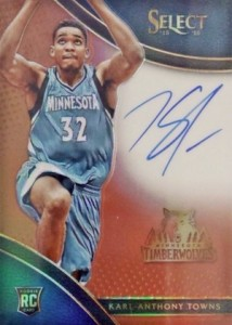 2015-16 Panini Select Basketball Rookie Signatures Copper Towns
