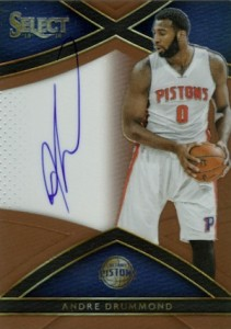 2015-16 Panini Select Basketball Signatures Copper Drummond