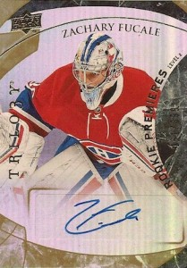 2015-16 SPx Hockey Trilogy Update Level 2 Autograph Rookie Fucale
