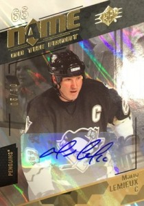 2015-16 Spx Hockey Base Name on the Front Autographs Lemieux