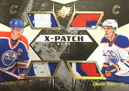 2015-16 Spx Hockey X-Patch Dual Greztky McDavid