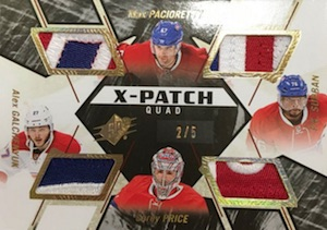 2015-16 Spx Hockey X-Patch Quad