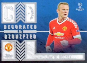 2015-16 Topps UEFA Champions League Showcase Decorated and Dignified Rooney
