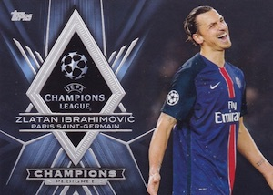 2015-16 Topps UEFA Champions League Showcase Pedigree Ibrahimović