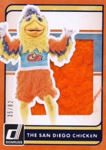 2016 Donruss Baseball The Famous San Diego Chicken Silhouette Material