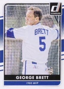 2016 Donruss Baseball Variations Image Nickname George Brett