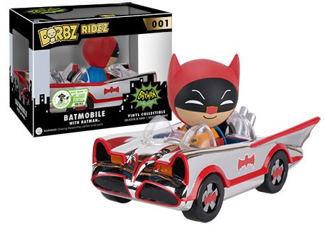 2016 Funko Emerald City Comicon Exclusives Dorbz Ridez #011 1966 Batmobile Chrome-Plated