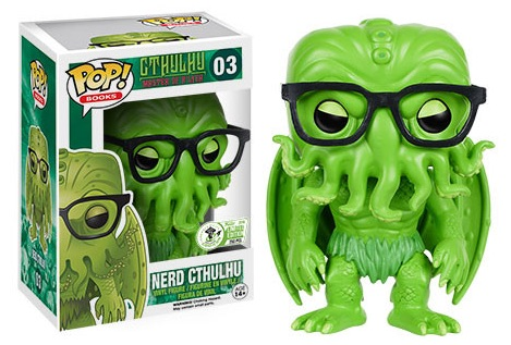 2016 Funko Emerald City Comicon Exclusives Pop Literature #03 HP Lovecraft Nerd Cthulhu