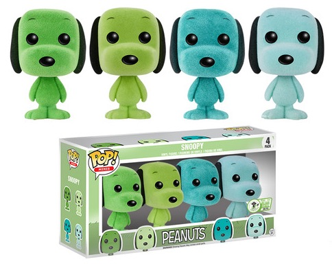 2016 Funko Emerald City Comicon Exclusives Pop Minis Mint Snoopy 4-Pack