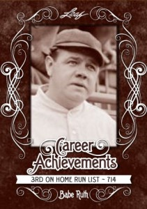 2016 Leaf Babe Ruth Collection Baseball Career Achievements