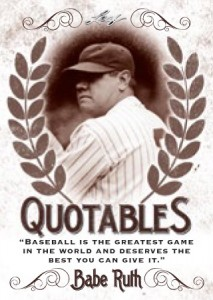2016 Leaf Babe Ruth Collection Baseball Qutoables