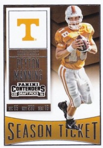 2016 Panini Contenders Draft Picks Football Base Season Ticket Peyton Manning