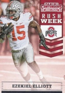 2016 Panini Contenders Draft Picks Football Rush Week Ezekiel Elliott