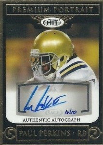 2016 Sage Hit Low Series Football Premium Portrait Autographs