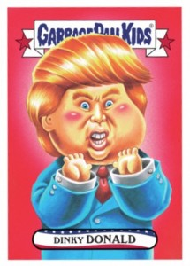 2016 Topps Garbage Pail Kids Mega Tuesday Dinky Donald Trump