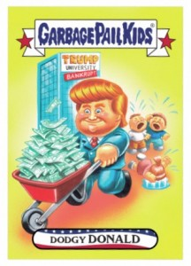 2016 Topps Garbage Pail Kids Mega Tuesday Dodgy Donald Trump