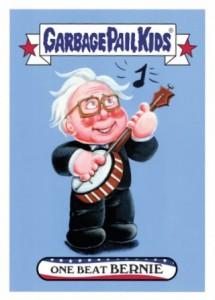 2016 Topps Garbage Pail Kids Mega Tuesday On beat Bernie Sanders