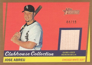 2016 Topps Heritage Baseball Clubhouse Collection Relics Abreu Gold