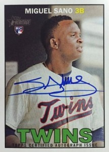 2016 Topps Heritage Baseball Real One Autographs Sano