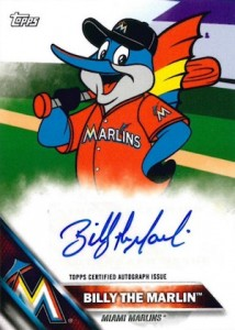 2016 Topps MLB Wacky Packages Mascot Autographs Billy the Marlin