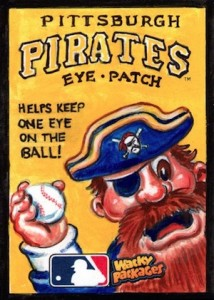 2016 Topps MLB Wacky Packages Sketch