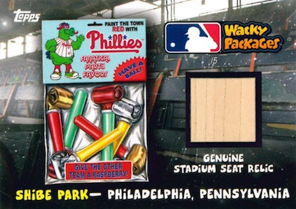 2016 Topps MLB Wacky Packages Stadium Seat Relics