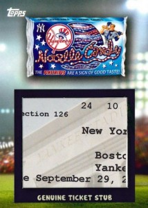 2016 Topps MLB Wacky Packages Ticket Stub Relic