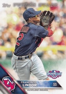 2016 Topps Opening Day Baseball Base Francisco Lindor Future Stars