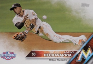 2016 Topps Opening Day Baseball Base Hechavarria