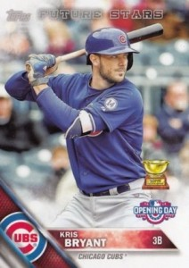 2016 Topps Opening Day Baseball Base Kris Bryant Future Stars